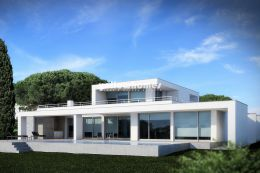 Modern 5-bed villa under construction with sea...